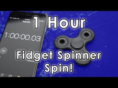 1 HOUR FIDGET SPINNER SPIN!!!