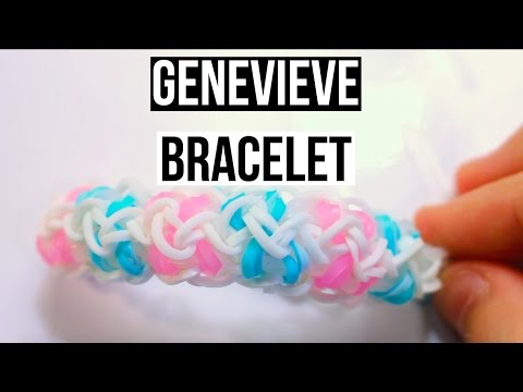 Genevieve Bracelet | One Loom Rainbow Loom Tutorial