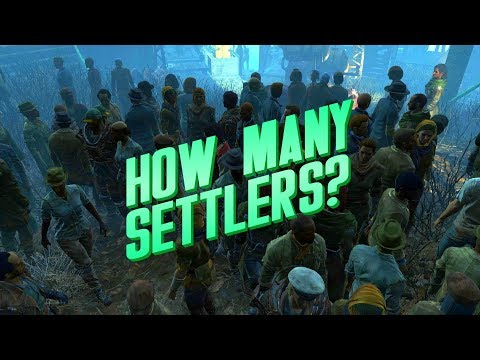 How many settlers is too many in Fallout 4??
