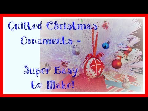 Easy No-Sew Quilted Christmas Ornament Tutorial