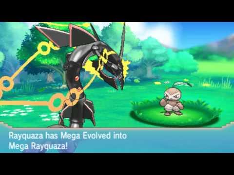Pokemon Omega Ruby Alpha Sapphire: Shiny Mega Rayquaza & Dragon Ascent - Mootypwns