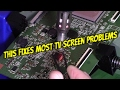 LED LCD TV REPAIR GUIDE TO FIX MOST SAMSUNG VIDEO PICTURE SCREEN PROBLEMS