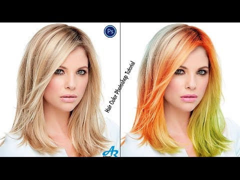 How Change Hair Color in Photoshop cc 2017|Photoshop Hair and Lip Color|Different Hair Color in PS