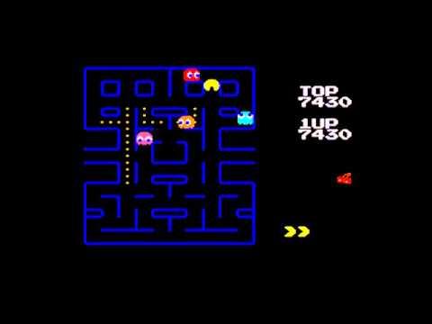 Pac-Man (GG) Gameplay - Full Screen Mode