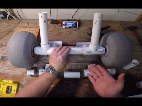 How to Attach Axle and Wheels to a PVC Frame