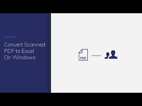 Convert Scanned PDF to Excel on Windows with PDFelement