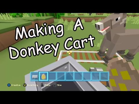 Making a Donkey Cart in Minecraft
