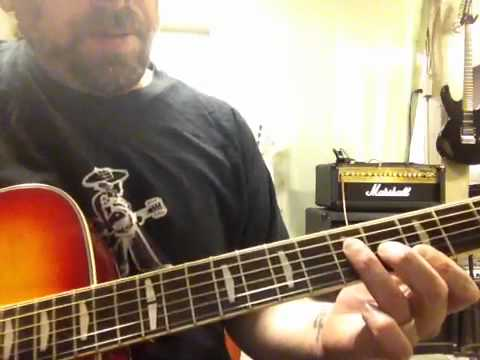 How to play the intro to fight fire with fire by Metallica