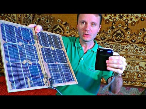 How to make a small SOLAR STATION! A handmade solar battery you can charge your mobile with!