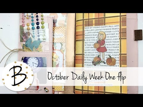 October Daily 2017 Week One Flip Through