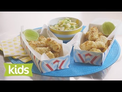 Coconut Fish Finger Recipe with Pineapple Salsa - As seen on The Voice Kids