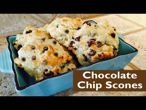 How to Make Chocolate Chip Scones - One Bowl Method
