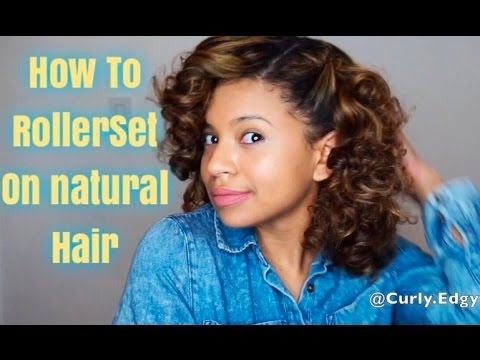 How to Rollerset on Natural hair