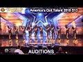 Junior New System JNS FILIPINO High Heels Dance Group America's Got Talent 2018 Auditions S13E01
