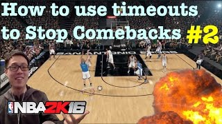 Nba 2k16 Tips How To Win Break Defense With Timeouts How To Play 2k16