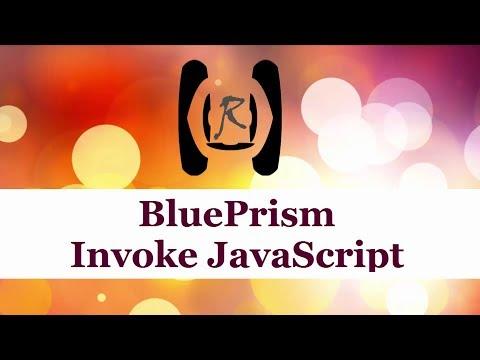 BluePrism - Invoke JavaScript || Reality & Useful