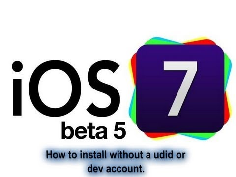 HOW TO INSTALL IOS 7 BETA 5 WITHOUT UDID!!