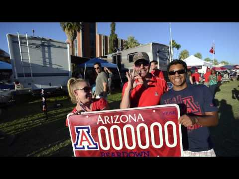 The University of Arizona License Plate Visits Tailgating