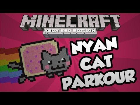 Minecraft Xbox 360 : Nyan Cat Parkour Race Map!