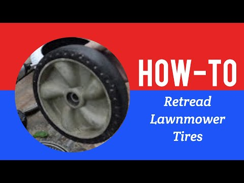 Retreading Lawn Mower Tire