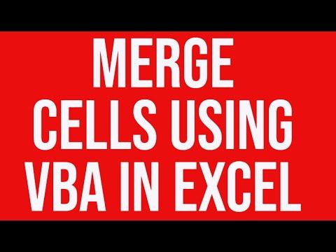 Merge cells using vba in Excel