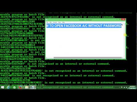 how to open facebook without password.wmv
