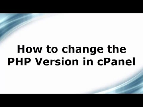 How to change the PHP Version in cPanel