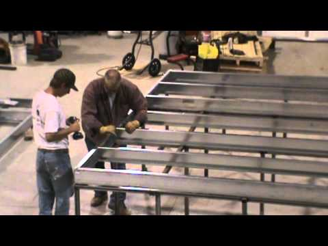 Steel floor assembly