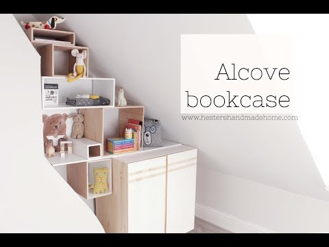 How to build a bookcase in an alcove