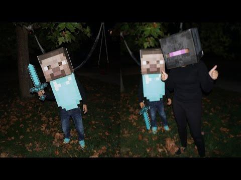 DIY Minecraft Steve Costume