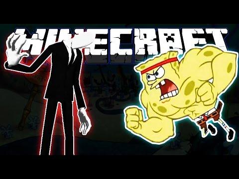 Minecraft | SpongeBob vs Slenderman | The Battle For Bikini Bottom