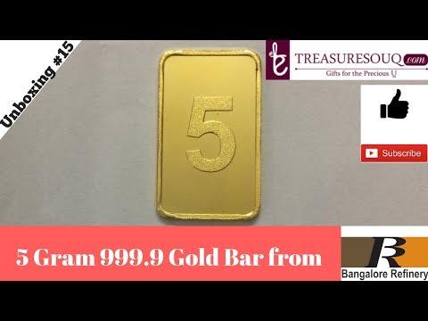 5 Gram Gold Bar India Unboxing [Hindi 2017]