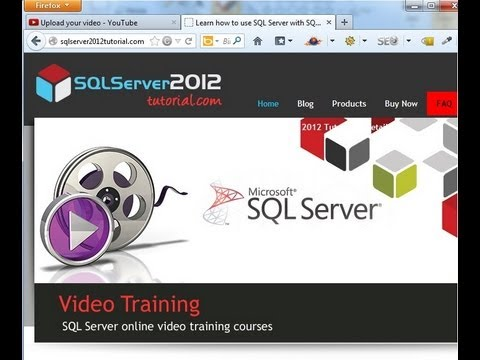 SQL 2012 - Create a database using SQL Server Management Studio