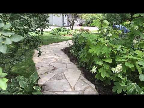 Flagstone pathway installation
