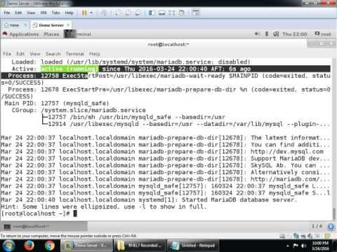 MariaDB on RHEL7