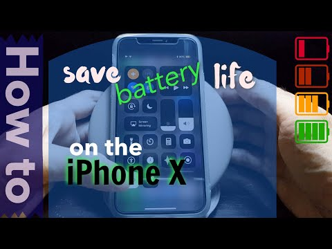 how to save or increase battery life on the iPhone X