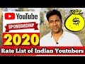 Download  How to get Sponsorship for Small Channels pro tips & Price Rate list 2020 MP3,3GP,MP4
