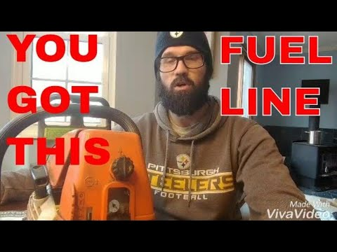 Stihl 026 how to replace fuel line filter carburetor (audio)
