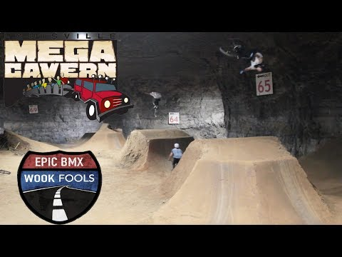 BMX DIRT JUMPS IN A CAVE! WOOK FOOLS Ep. 2
