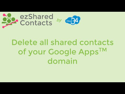 Delete all Shared Contacts in a Google Apps™ domain