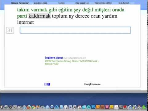 [Turkish] Typing Speedtest - 647 characters per minute