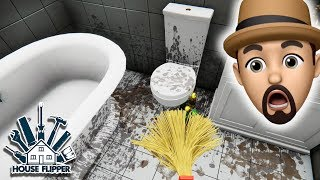 WHAT HAPPENED IN THIS BATHROOM??? | House Flipper #10