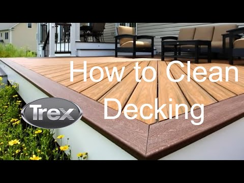 How to Clean Trex Deck - Trex Transcend Composite Decking