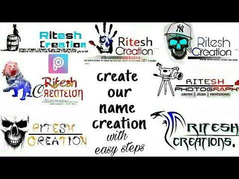 make your creation and photography name with picsart app, picsart creation name,picsart logo,