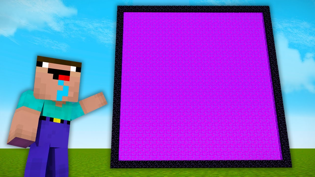 Minecraft NOOB vs PRO: NOOB FOUND THE BIGGEST PORTAL in MINECRAFT! SECRET PORTAL! (Animation)