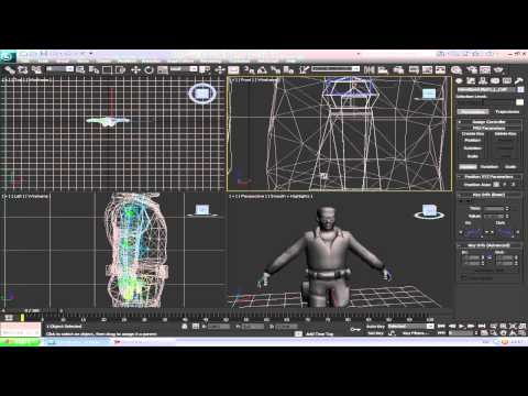 3ds max how to Download,Rig,Animate a Counter Strike Source Model part 3