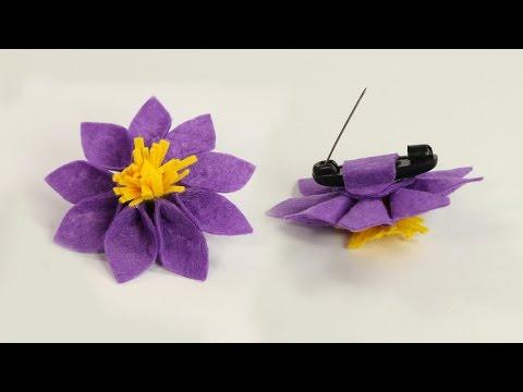 DIY Crafts for Girls- Felt Flower Brooch Pin for Dresses