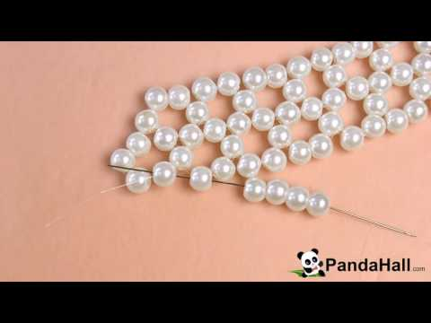 90 Pandahall Tutorial on How to Make Chic Pearl Bead Choker Necklace with Jade Beads 1