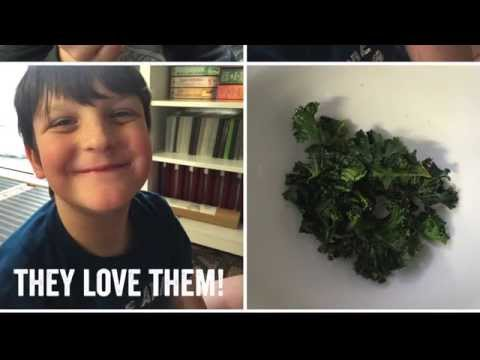 Convection Oven kale chips - quick, easy, tasty and healthy