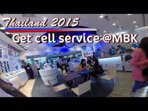 Travel Thailand How to get tourist Cellphone service CHEAP in Bangkok MBK Shopping Mall